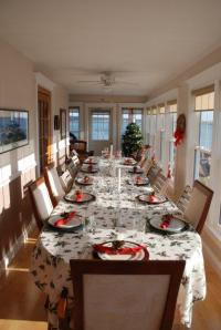 Our Christmas dinner table one year