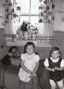 My father, Richard (Dick) Thompson, me, and my sister Corinne. Circa 1956/57