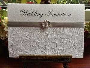 Silver Chantilly Wedding Invitation