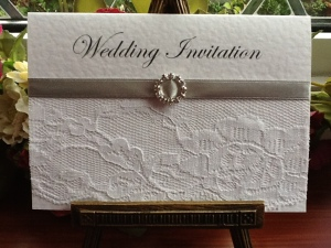 Silver Chantilly Wedding Invitation