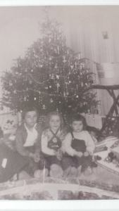 Me and my two younger sisters one Christmas morning circa 1958/59